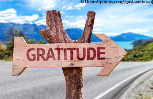 A gratitude list is a great way to get you into a great mindset before the next endeavor.
