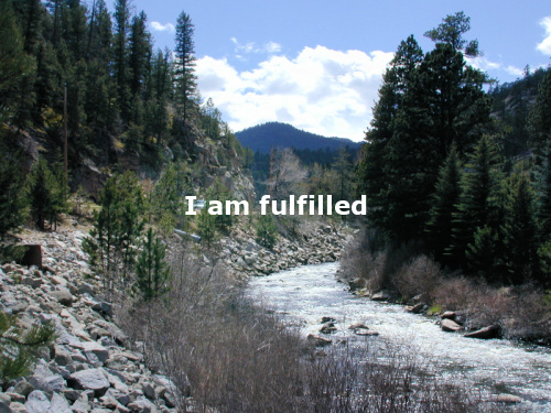 River near the Colorado Rockies with the daily positive affirmation: