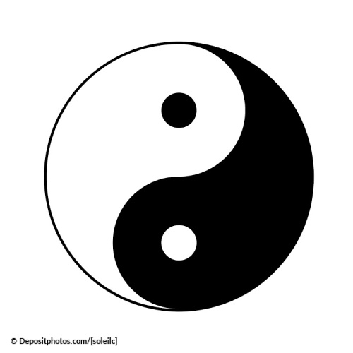 The yin and yang in the dynamic laws of prosperity.