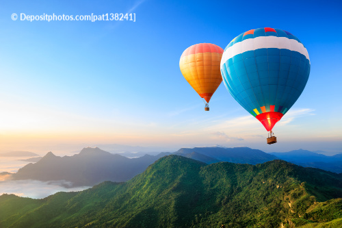 These hot air balloons symbolize keeping your point of view light when you are attracting prosperity.