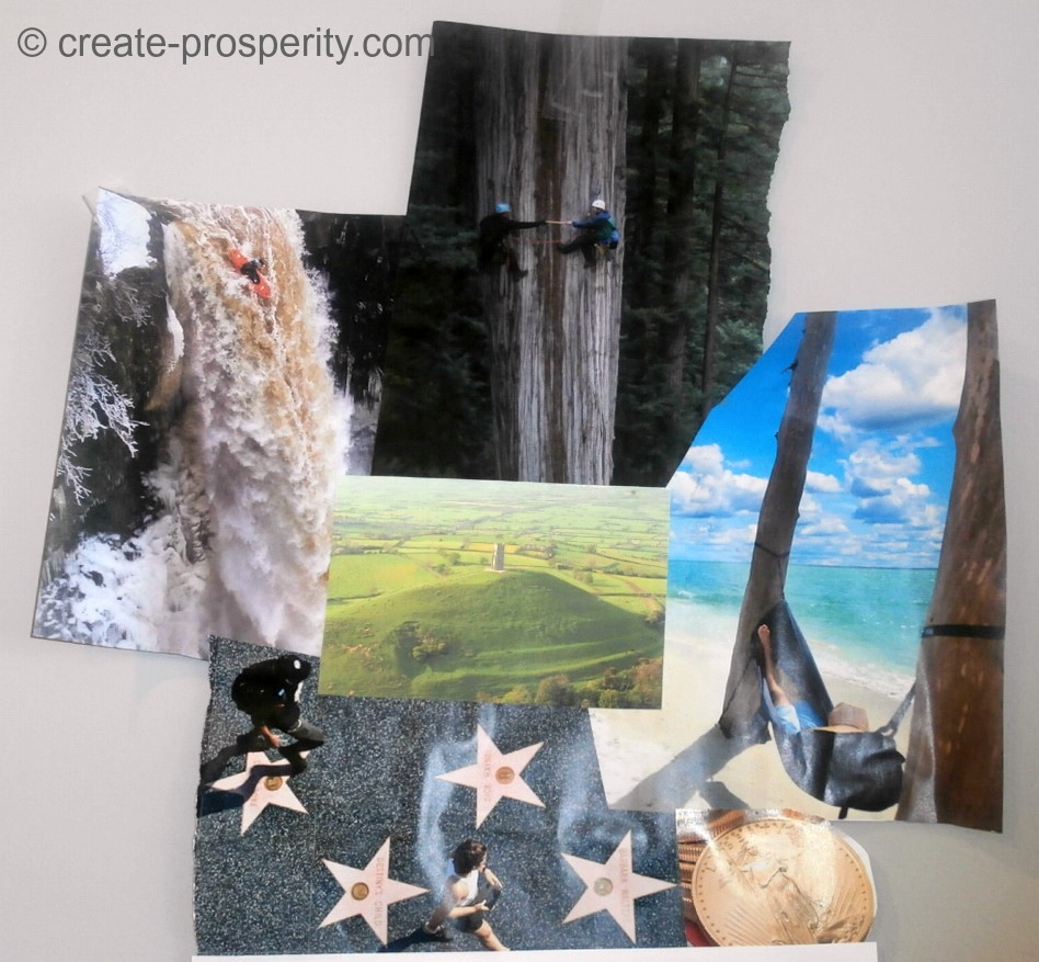 Collaging as the access to manifesting prosperity