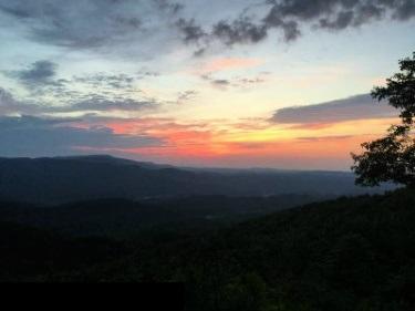 heavenly mountain sunrise