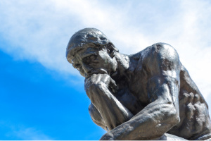 Thinking man - when working with the question of how to use positive affirmations, play with visualizing removing/erasing those thoughts and replacing them with a vision of what inspires you.