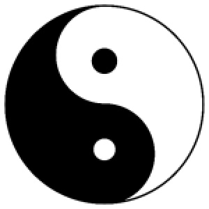 Balance, in the human energy field, can be represented by the yin/yang symbol.