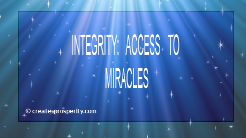 Applying integrity is an example of prosperity.
