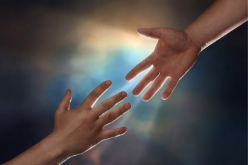 Karuna Reiki benefits include the possibility of having those ideas that galvanize you into action.  The photo of helping hands represent that action.