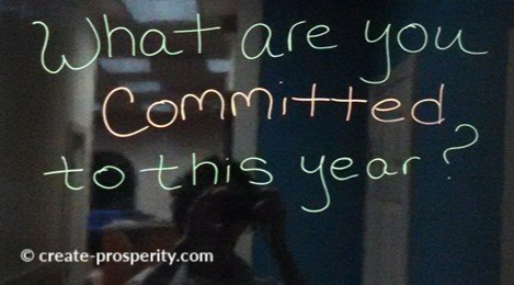 Committing to yourself and your prosperity is an important aspect of prosperity self help.  Commitment can move mountains.