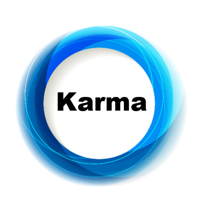 Good spiritual development processes help you mitigate the karmic seeds in your spiritual body.  The circle symbol represents karma.