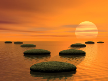 Tithing how to chose where to donate?  The 2 diverging paths of zen stones symbolize the decision you get to make.