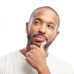 Photo symbolizing man considering the question of do affirmations work?
