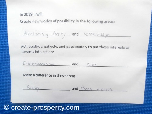 manifesting prosperity by setting an intention
