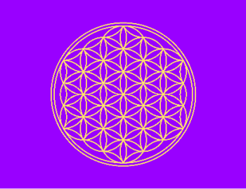 The Flower of Life symbol represents creation.  When your spiritual body is balanced, you are free to create in the most perfect and beautiful way.